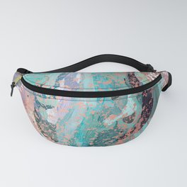 Abstract Digital Painting with Rose Gold Patina Design with by Hxlxynxchxle Fanny Pack