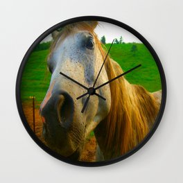 ginger horse Wall Clock