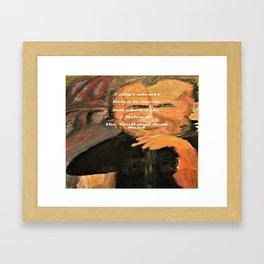Bukowski, I don't always listen to music, but when I do, I listen to the Skull and Bone Band Framed Art Print