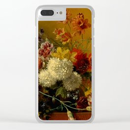 """George Jacobus Johannes van Os """"Still Life with Flowers"""" Clear iPhone Case"""