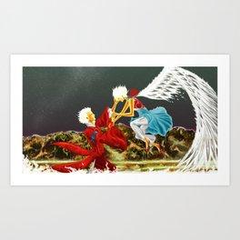 White Coals' Meeting Art Print