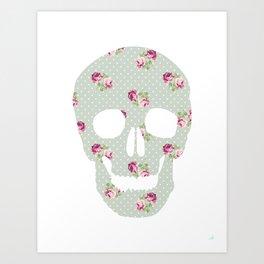 Poá Skull Art Print