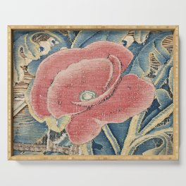Flower Tapestry Serving Tray