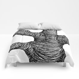 Black and White Big Old Tree Comforters