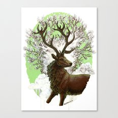 Red Stag Canvas Print
