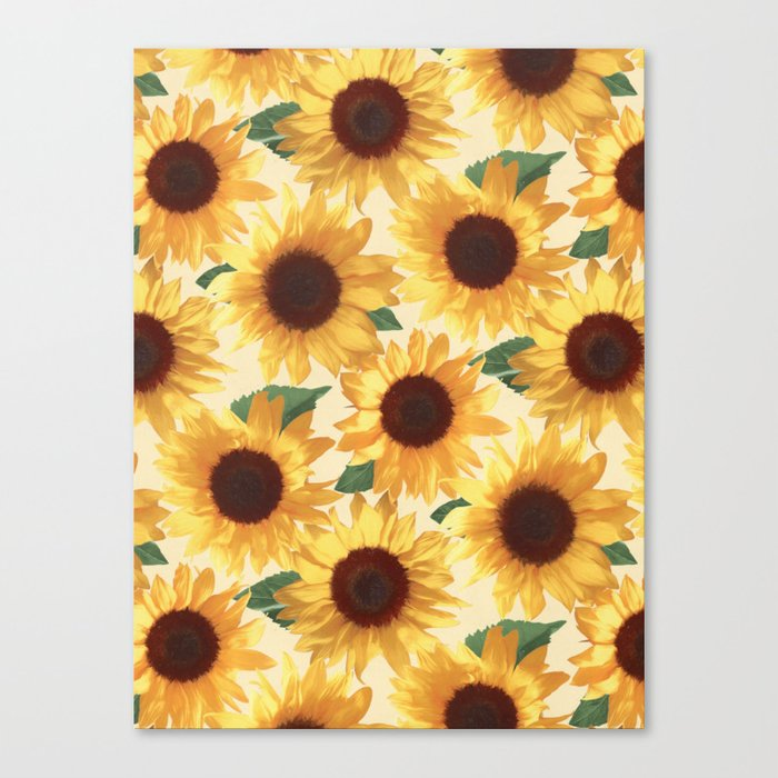 Happy Yellow Sunflowers Leinwanddruck