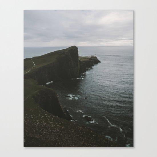 Neist Point Lighthouse at the Atlantic Ocean - Landscape Photography Canvas Print