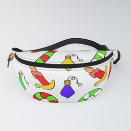 Christmas Lights, Candy Canes and Candles Fanny Pack