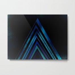 Blue Arrow Metal Print