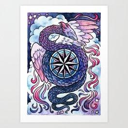 Zephyr Dragon at Dusk Art Print