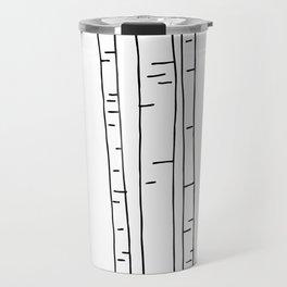 Minimal birches Travel Mug