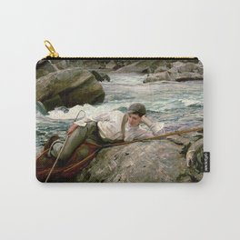 On his Holidays by John Singer Sargent - Vintage Fine Art Oil Painting Carry-All Pouch