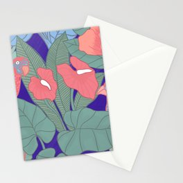 Jungle Parrot Stationery Cards