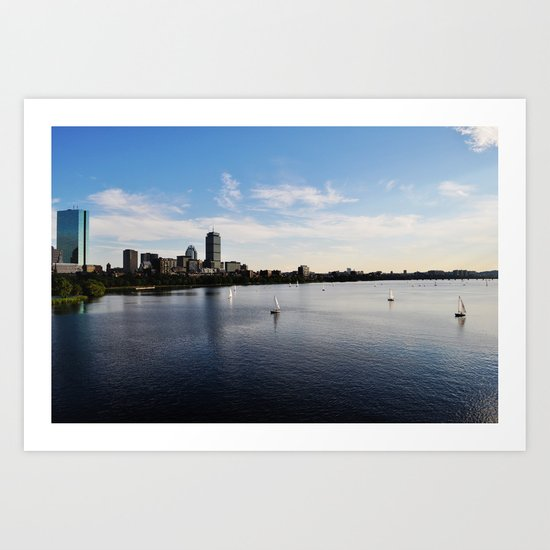 I Love that Dirty Water! Art Print