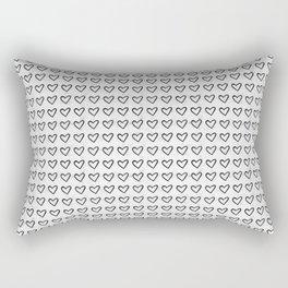 Heart Ink Pattern Rectangular Pillow