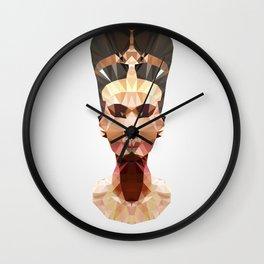 Polygon Heroes - Nefertiti Wall Clock