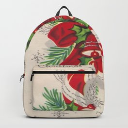 A Vintage Merry Christmas Candy Cane Backpack