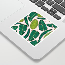 Banana Leaf Blush #society6 #decor #buyart Sticker