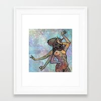 tits Framed Art Prints featuring Tricera Tits by Cari Veach