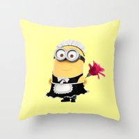 phil jones Throw Pillows featuring It's Phil! by Harry Martin