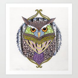 Poorly Camouflaged Owl Art Print