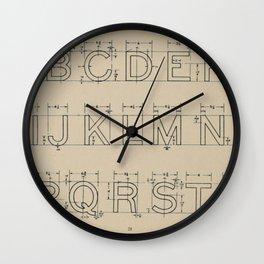 Vintage Block Font Wall Clock