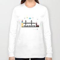 istanbul Long Sleeve T-shirts featuring Istanbul.  by Irmak Berktas
