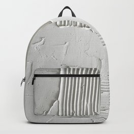 Relief [3]: an abstract, textured piece in white by Alyssa Hamilton Art  Backpack
