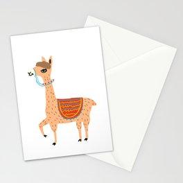 funny alpaca Stationery Cards