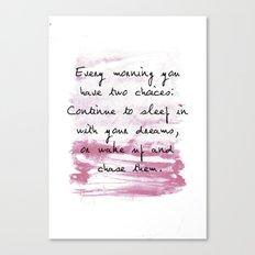 everymorning watercolor Canvas Print
