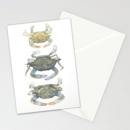 Blue Crabs Stationery Cards