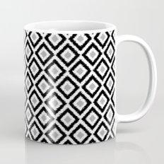 Black and White Diamond Ikat Mug