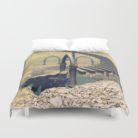 The treppe in the sky Duvet Cover