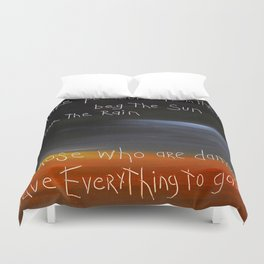 those who are damaged Duvet Cover