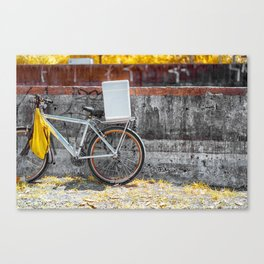 Street Bicycle Canvas Print