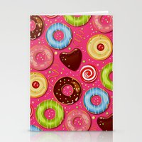 donut Stationery Cards featuring DONUT by Ylenia Pizzetti