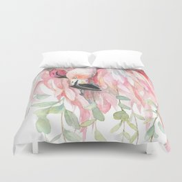 Flamingos in Love Duvet Cover
