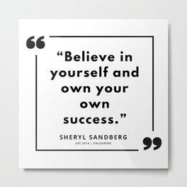 28  | Sheryl Sandberg Quotes | 190902 Metal Print