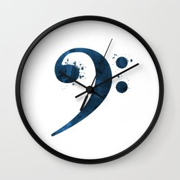 Bass clef Wall Clock