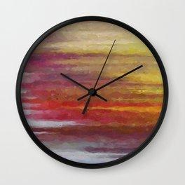 Reflexes of light Wall Clock