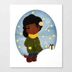 Rosy Stars Canvas Print