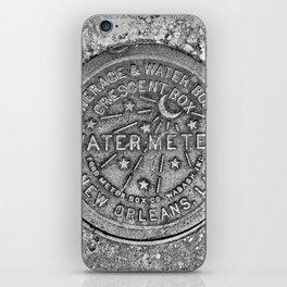 New Orleans Water Meter Louisiana Crescent City NOLA Water Board Metalwork Grey Silver iPhone Skin