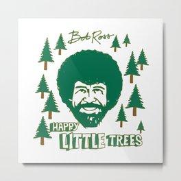 Bob Ross Happy Metal Print