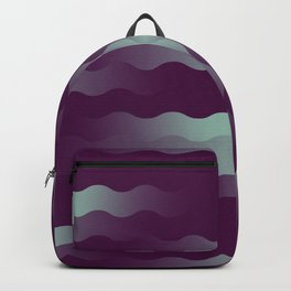 Mint Plum Gradient Wave Backpack