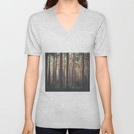 Forest trees Unisex V-Neck