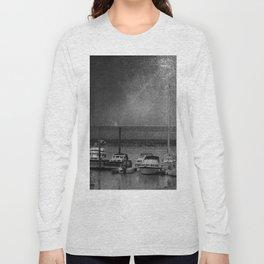 Harbour of Neuharlingersiel lower saxony Germany Long Sleeve T-shirt
