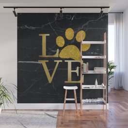 Love is a Four Letter Word - Black and Gold Wall Mural