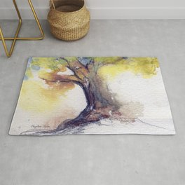 My Tree watercolor by CheyAnne Sexton Rug