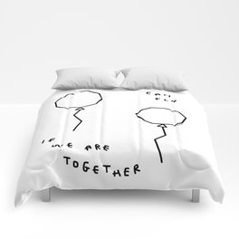 We Can Fly - balloon illustration Comforters