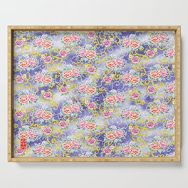 Japanese floral pattern Serving Tray